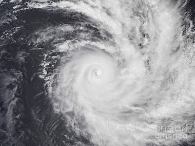 Zoe Photograph - Cyclone Zoe In The South Pacific Ocean by Stocktrek Images
