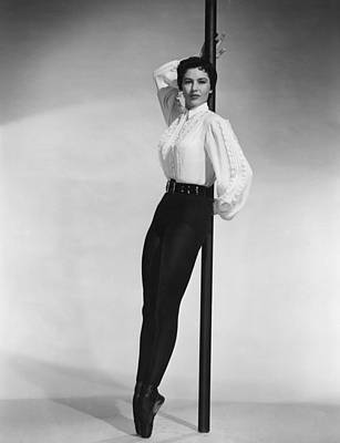 Ballet Slippers Photograph - Cyd Charisse, Portrait by Everett