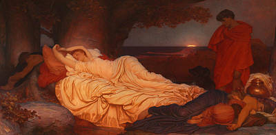 Cymon Looks Down On The Sleeping Iphigenia Print by Celestial Images