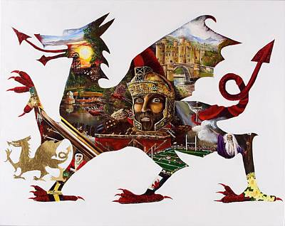Painting - Cymra Dragon by John Palliser