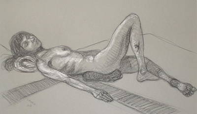 Drawing - Cynthia Reclining 1 by Donelli  DiMaria