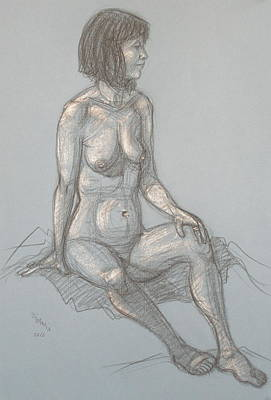 Drawing - Cynthia Seated From Side by Donelli  DiMaria