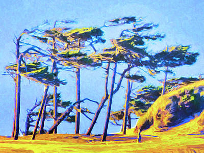 Painting - Cypress At Sunrise by Dominic Piperata
