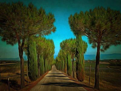 Digital Art - Cypress Avenue by Dorothy Berry-Lound