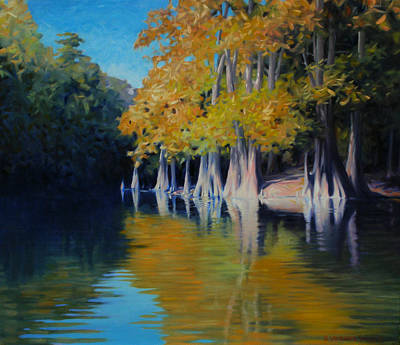 Cypress Bank Art Print by Kevin Lawrence Leveque
