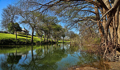 Photograph - Cypress Bend Park Reflections by Judy Vincent