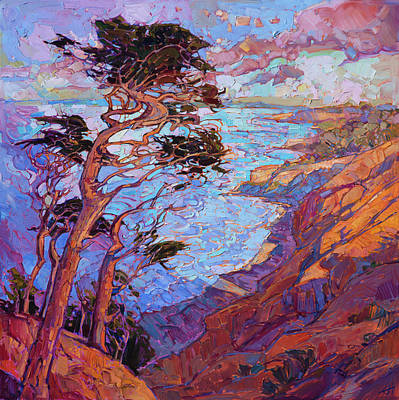 Painting - Cypress Clouds by Erin Hanson