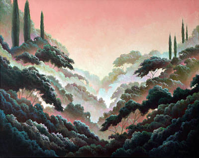 Painting - Cypress Forest by Charle Hazlehurst