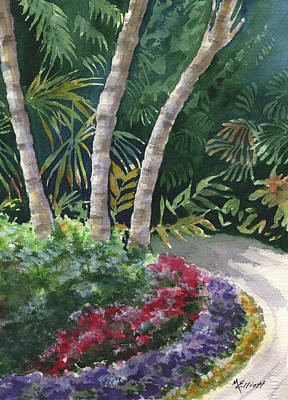 Florida Flowers Painting - Cypress Gardens by Marsha Elliott