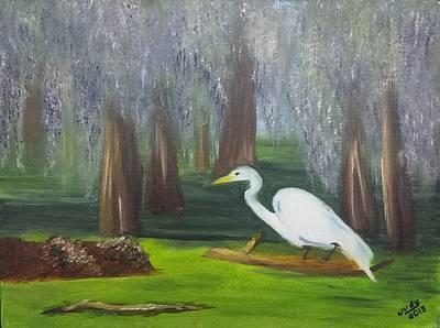 Animals Paintings - Cypress Getaway  by Judy Jones
