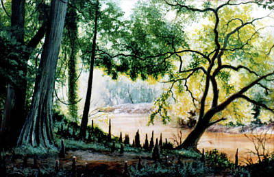 Painting - Cypress Knees by Randy Welborn