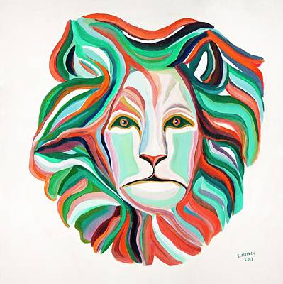 Painting - Lion - Cypress by Ida Mitchell