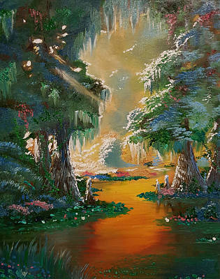 Cypress Swamp Painting - Cypress Point by Nicolas Avet