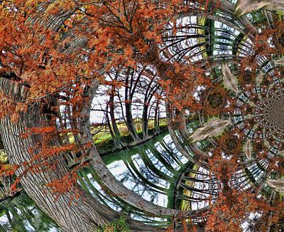 Reverie Digital Art - Cypress Reverie by Wendy J St Christopher