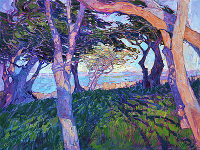 Painting - Cypress Rhythms by Erin Hanson