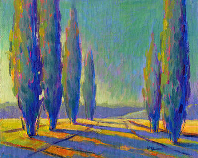 Painting - Cypress Road 3 by Konnie Kim