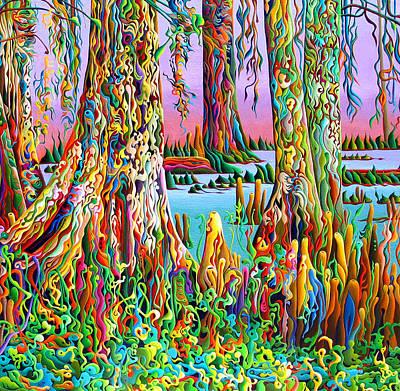 Cypress Spirit Rising Art Print