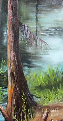 Painting - Cypress Up Close by Barbara Haviland