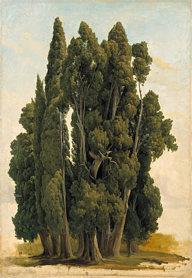 Gustaf Wilhelm Palm Painting - Cypresses. Study by Gustaf Wilhelm Palm