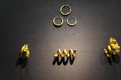 Gold Earrings Photograph - Cypriot Gold Ornaments by Andonis Katanos