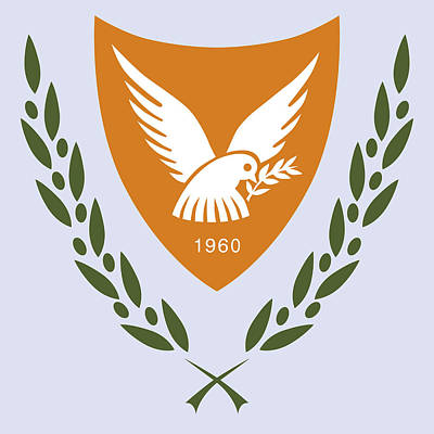Cyprus Coat Of Arms Art Print by Movie Poster Prints