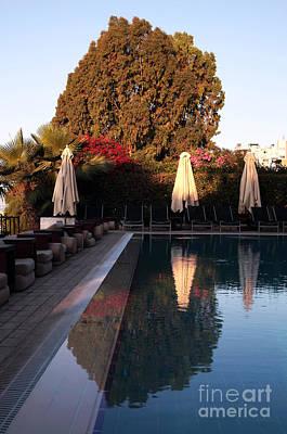 Cyprus Pool Reflection Art Print