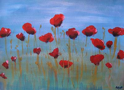 Painting - Cyprus Poppies by Susan Brooks