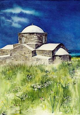 Cyprus The Old Church Art Print by Sandra Phryce-Jones