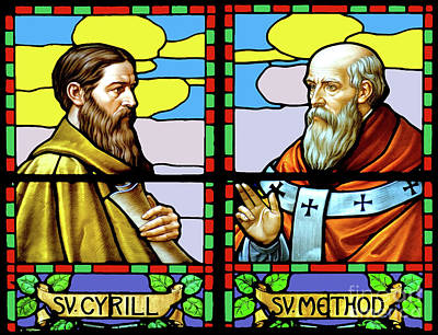 Cyril And Methodius Art Print by Phil Robinson