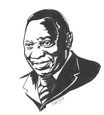 Painting - Cyril Ramaphosa by Emmanuel Baliyanga