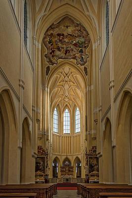 Photograph - Czech Church Interior by Stuart Litoff