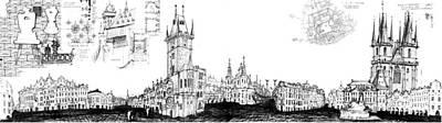 Drawing - Czech Republic 6.52.hungary-6-detail-a by Charlie Szoradi