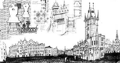Drawing - Czech Republic 6.53.hungary-6-detail-b by Charlie Szoradi