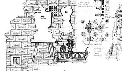 Drawing - Czech Republic 6.55.hungary-6-detail-d by Charlie Szoradi