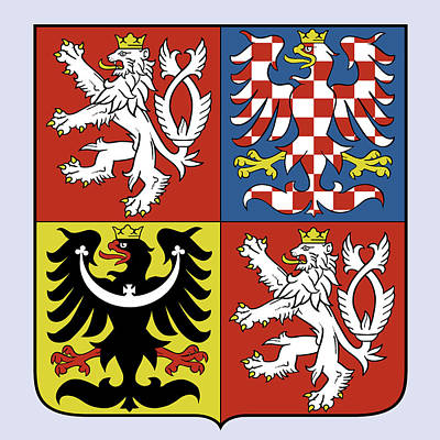 Czech Drawing - Czech Republic Coat Of Arms by Movie Poster Prints
