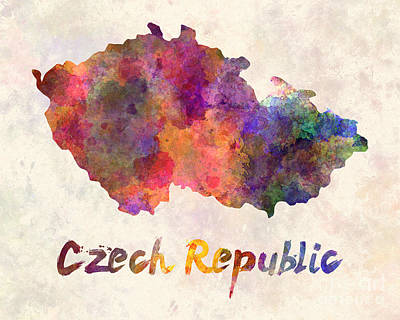 Czech Republic Painting - Czech Republic In Watercolor by Pablo Romero