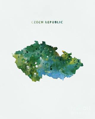 Prague Czech Republic Mixed Media - Czech Republic by Monn Print