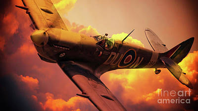 Czech Digital Art - Czech Spitfire by J Biggadike