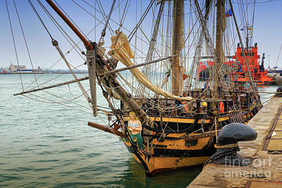 Photograph - Czech Tall Ship La Grace Cadiz Spain by Pablo Avanzini