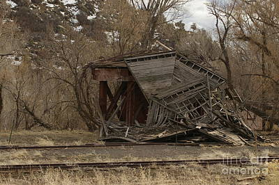 Photograph - Collapsed Denver And Rio Grande Railroad Water Tank Gato-pagosa Jct by William Schlabach