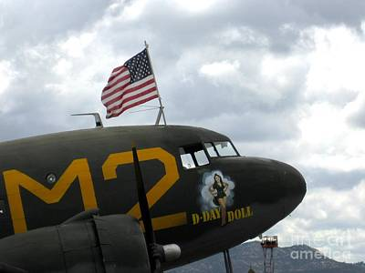 101st Airborne Division Photograph - Douglas C-53d - D Day Doll by Marta Robin Gaughen