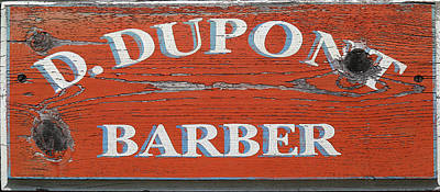Photograph - D. Dupont Barber by Mary Bedy