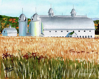 Painting - D H Day Farm by LeAnne Sowa