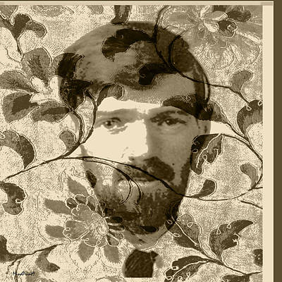 Digital Art - D H Lawrence by Asok Mukhopadhyay