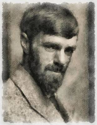 Urban Abstracts - D. H. Lawrence, Author by Esoterica Art Agency