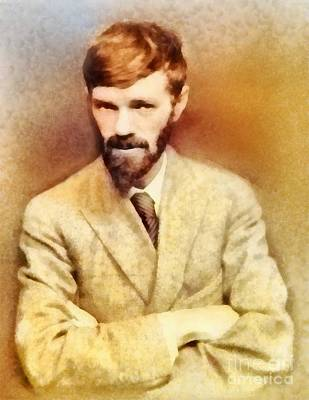 Literature Painting - D. H. Lawrence, Literary Legend by Frank Falcon