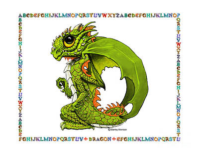 D Is For Dragon Art Print by Stanley Morrison