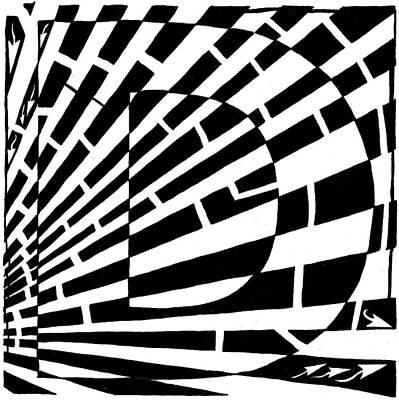 D Maze Art Print by Yonatan Frimer Maze Artist