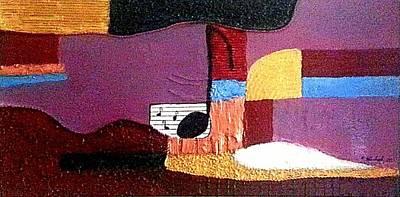 Gitarre Painting - D-moll by Monika Allenbach