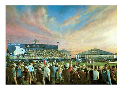 Painting - D P World Tour Championship 2012 by Mark Robinson